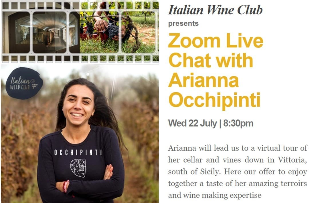 Meet the Wine-Maker | Zoom Live Chat with Arianna Occhipinti