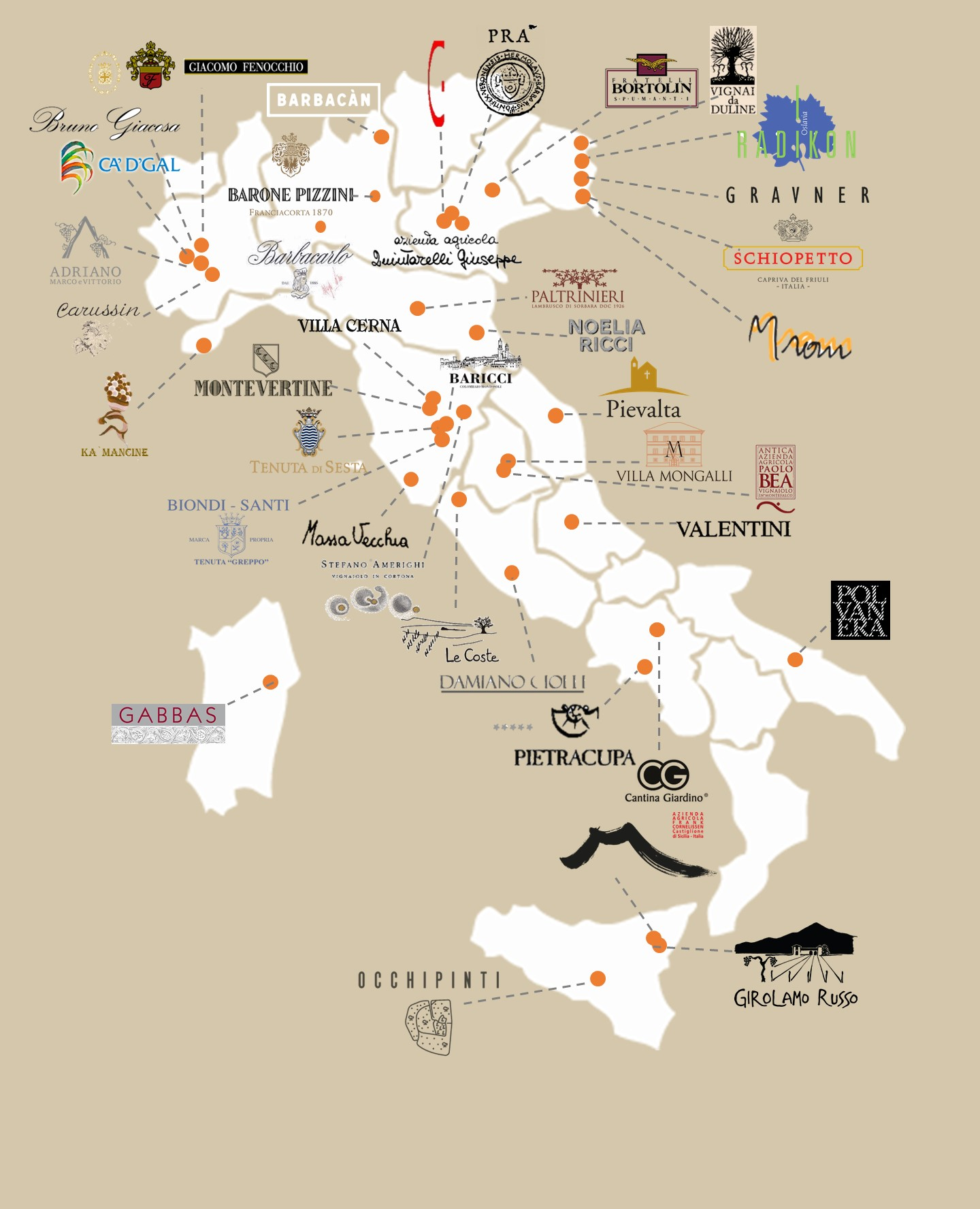 Italian Wine Wineries Interactive Map